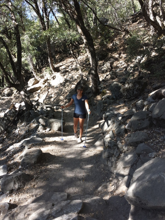 Mrs. Jessetter on the trail