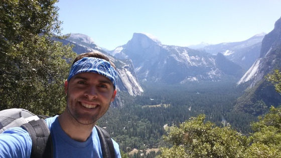 Awesome view of Half Dome from the trail