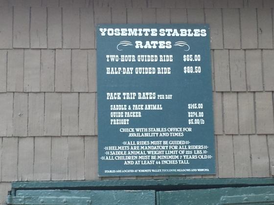 Ride a horse in Yosemite!