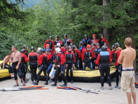 The entire rafting group