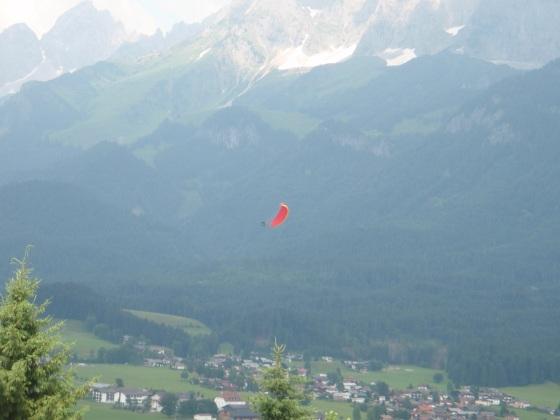Skydiving over St. Johann