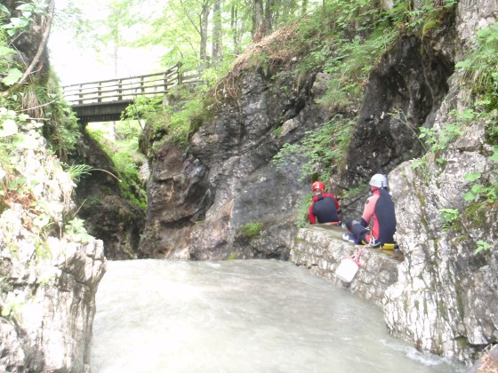 Edge of a waterfall