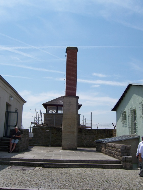 Chimney from the gas chamber