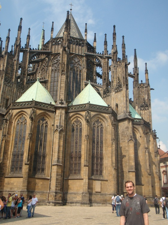 Side view of Prague Castle