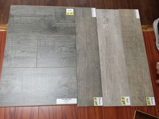 Possible flooring options.
