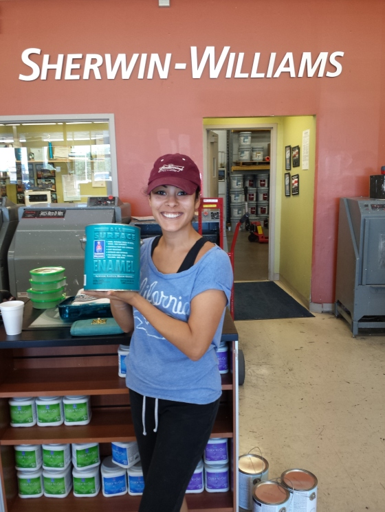 Thankfully my brother works at Sherwin Williams and I am able to use his discount!