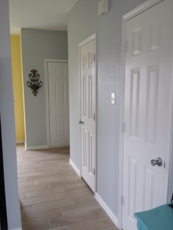 Misty paint down our entry hall