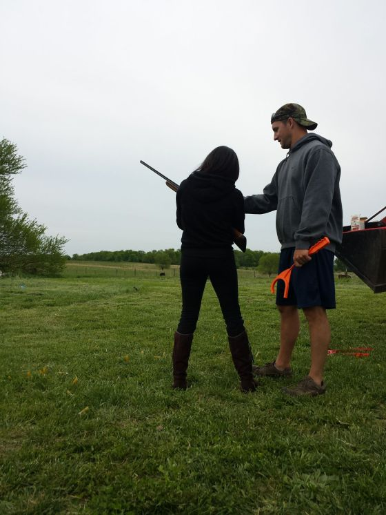 Hung out at our bestie's house in Missouri and shot some skeet! Surprisingly we're pretty good!