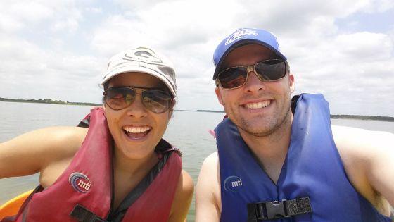 Went kayaking on Lake Grapevine in TX!