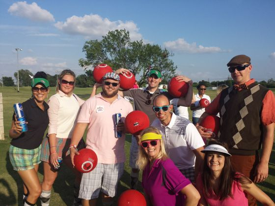 Played in a kickball golf tournament!