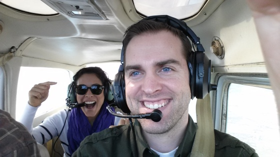 Mr. Jess flew a plane and I was his co co-pilot!