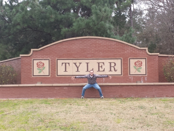 First stop: Tyler, TX for Mr. Tyler of course!