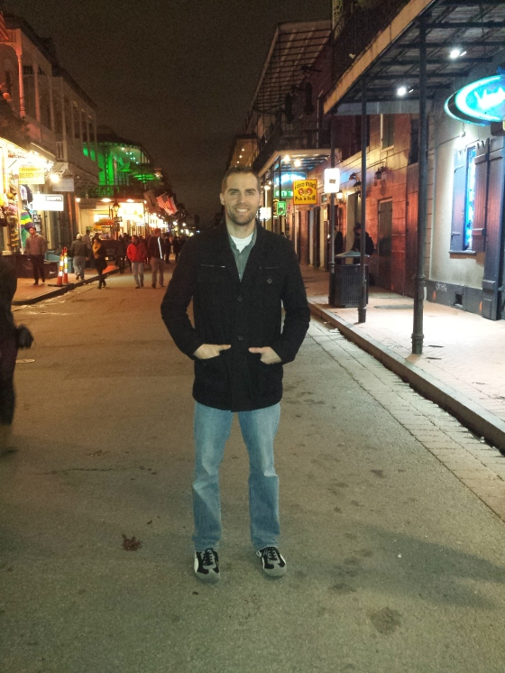 Birthday man on Bourbon St.