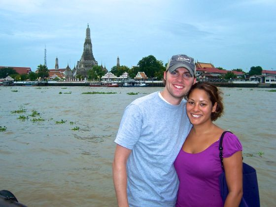 See Wat Arun in the distance. It is so grand!