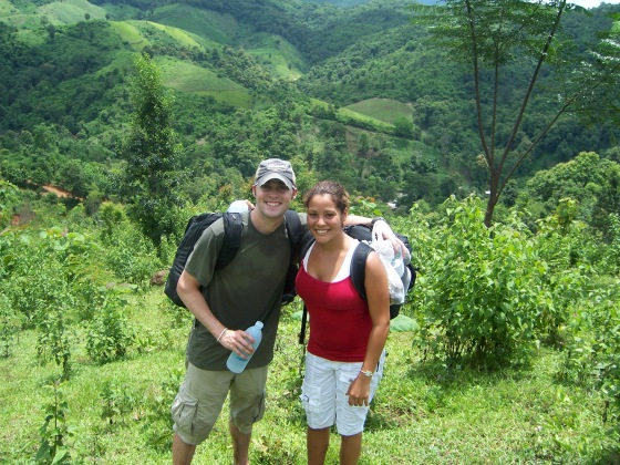 My mister and I hiking away!