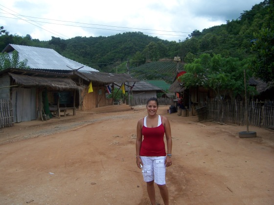 Our first village we visited.